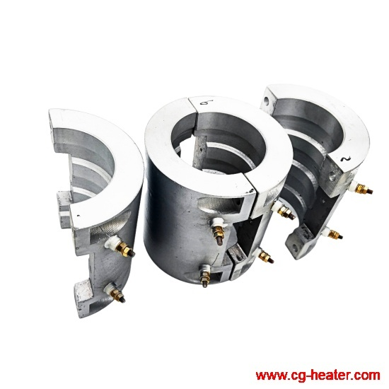 Plastic machine extruders casting aluminium heaters