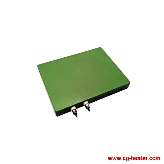 Cast aluminum heating plate with Teflon coating