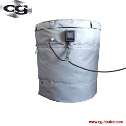 Drum container blanket heater insulation jackets with digital thermostats