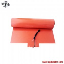 CGHEATER professional silicone rubber heating pad with pt100 probe for hot press machine