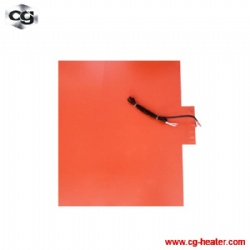 Industrial flexible rubber electric silicone pad heater