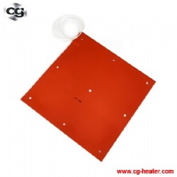 3d printer heating silicone rubber heater pad/bed