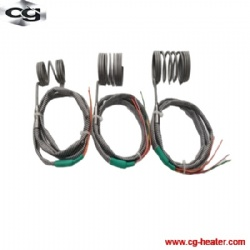 Electric Hot Runner Spring Coil Heater with thermocouple