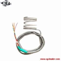 spring hot runner nozzle coil heater for injection molding